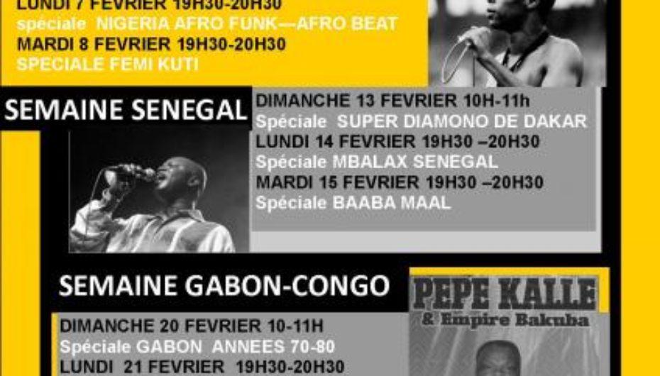 Programme de février 2011 de l'émission Black Voices