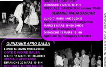 Programme de mars 2011 de l'émission Black Voices
