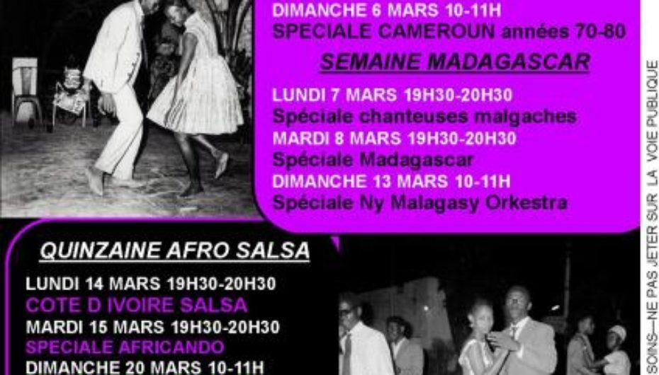 Programme de mars 2011 de l'émission Black Voices
