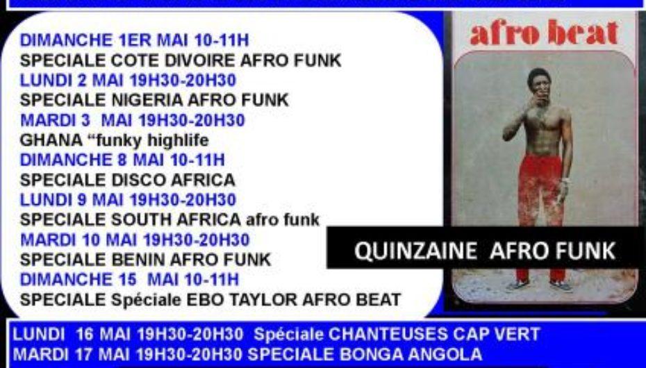 Programme de mai 2011 de l'émission Black Voices