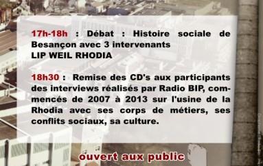 Histoire Sociale des Usines-Clés de Besançon – 26 octobre 2013