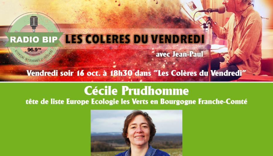 Cécile Prudhomme invitée des «Colères du Vendredi»
