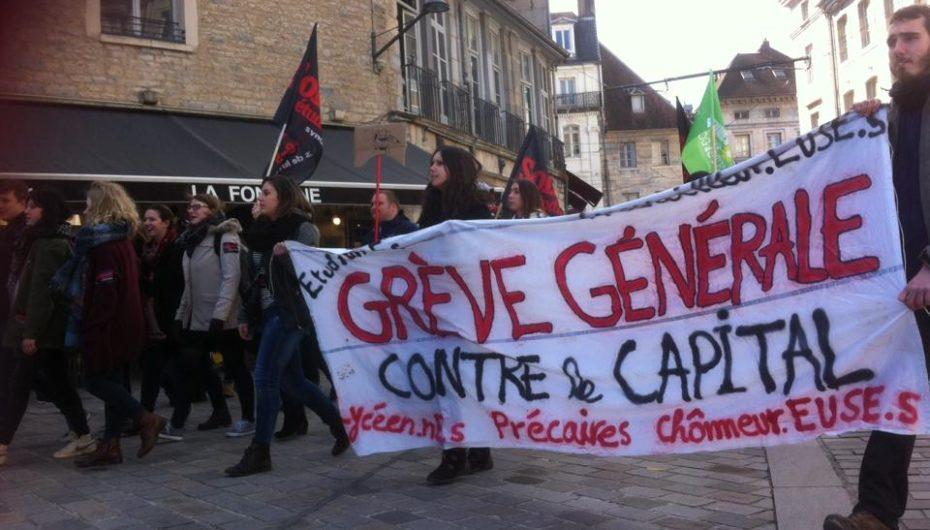 Manifestation du 9 mars à Besançon (audio)