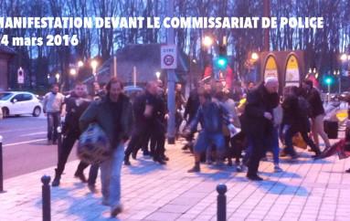 Manifestation devant le commissariat de police de Besançon