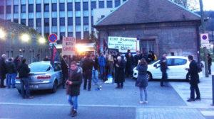 Manifestations devant le Commissariat de Police - 24/03/2016