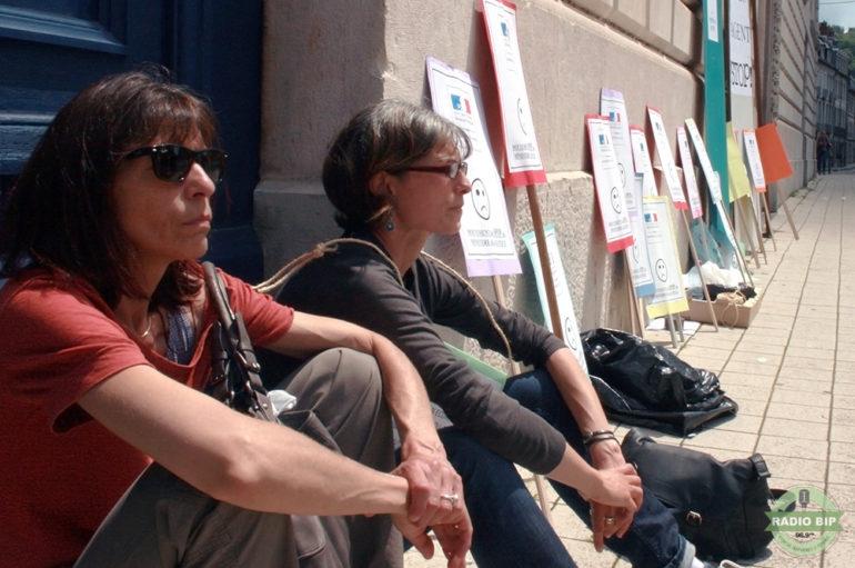 Manifestation du personnel des services pénitentiaires d'insertion et de probation (SPIP)