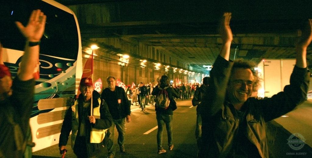 14 Juin - Manifestation à Paris - Périphérique Porte d'Italie