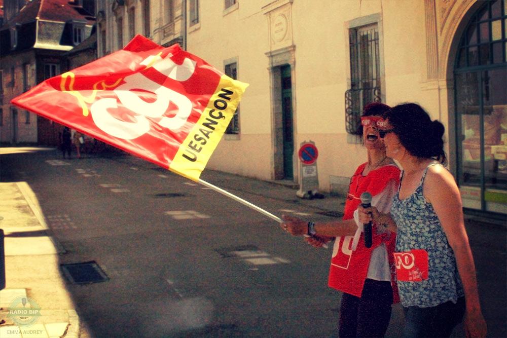 23-Juin-2016-Manifestations-Besancon-Drapeau-CGT