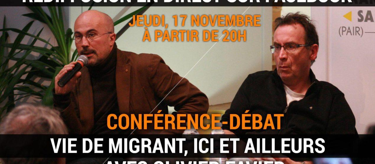 REDIFFUSION (vidéo) de la conférence-débat «Vie de migrant, ici et ailleurs»