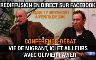 """REDIFFUSION (vidéo) de la conférence-débat """"Vie de migrant, ici et ailleurs"""""""