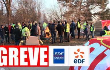 Les salarié.e.s et retraité.e.s de EDF/GDF en grève à Besançon