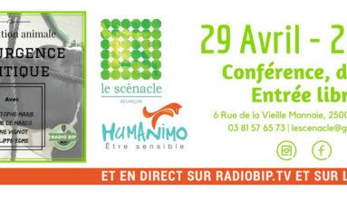 «La condition animale, une urgence politique» – Conférence-débat le 29 avril