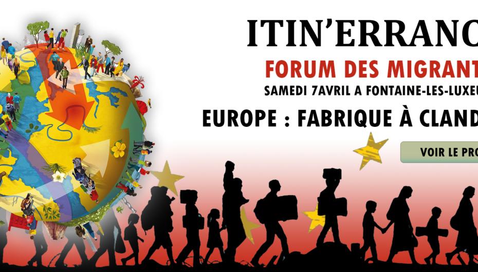 ITIN'ERRANCE, Forum des Migrants à FONTAINE-les-Luxeuil