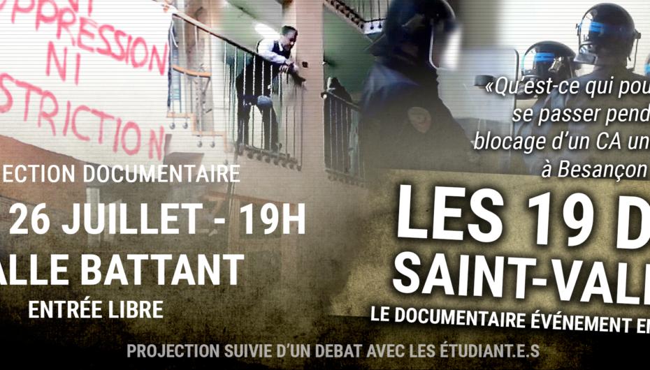 Projection du documentaire «Les 19 de la Saint-Valentin»