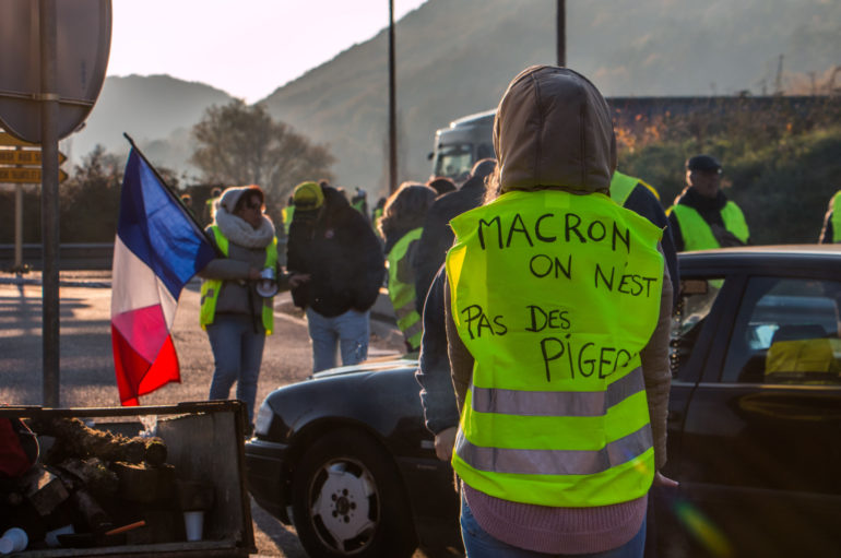 """Retour en images sur les manifestations """"gilets jaunes"""" à Besançon"""