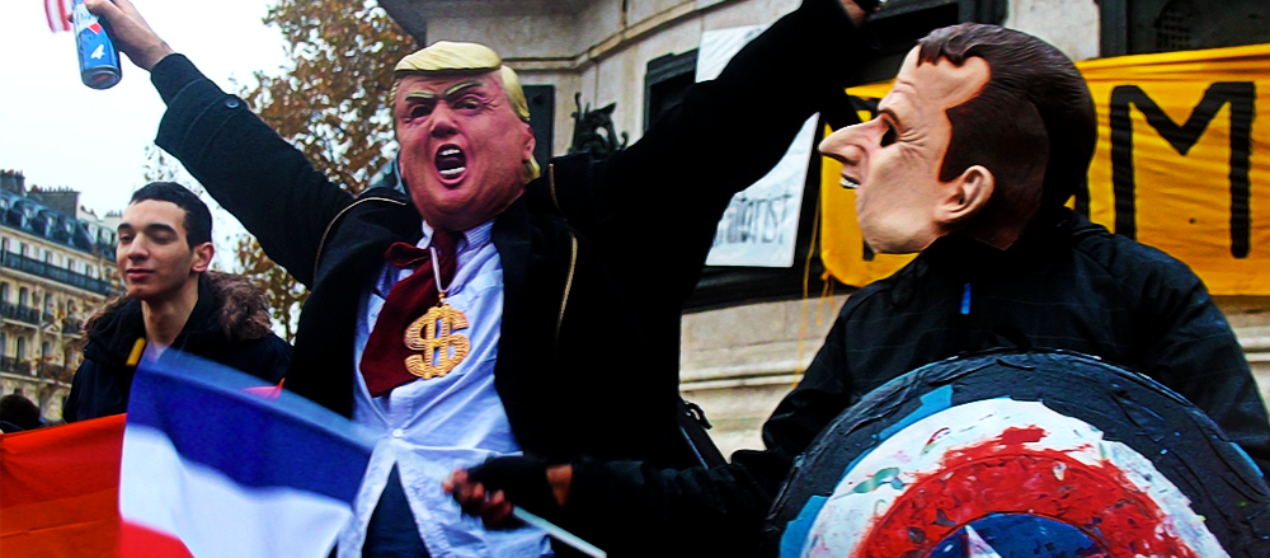 11 novembre, manifestation anti Trump à Paris