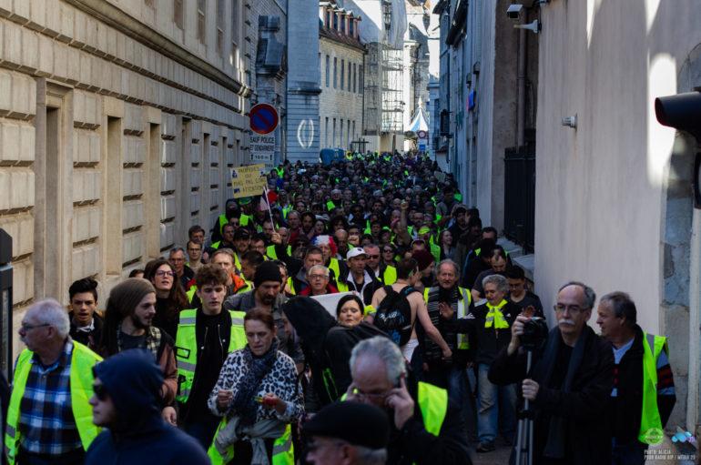 Photoreportage: L'acte 18 des Gilets Jaunes à Besançon
