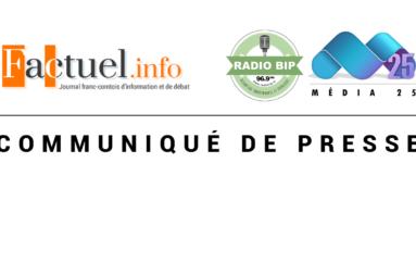 Communiqué : Factuel.info et Radio BIP/Média25 ne se laisseront pas intimider