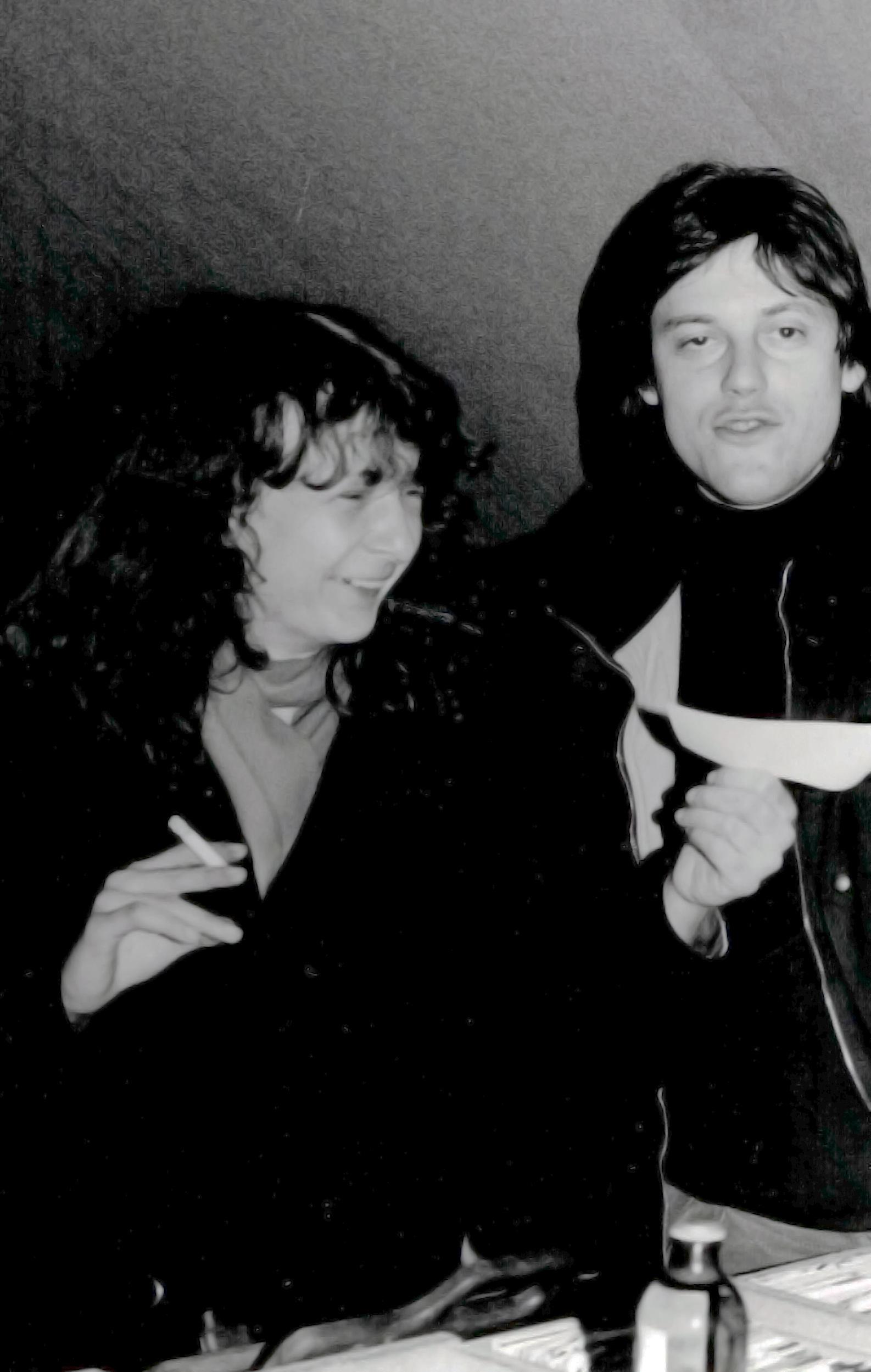 Christine Relange avec Philipe Edme en 1987