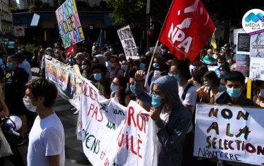 Vidéo: Paris, 17 sept – journée de mobilisation contre les mesures du gouvernement