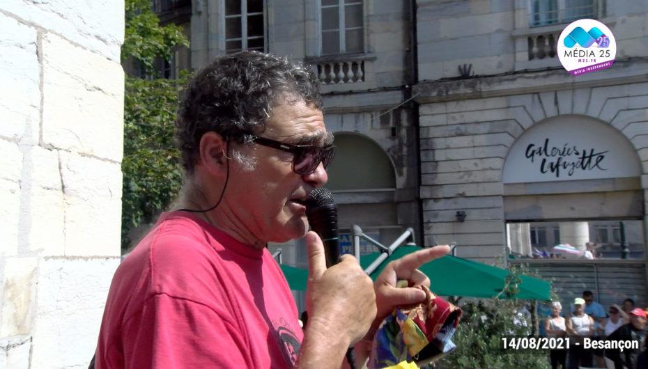 Le discours qui dénonce les néonazis dans la manifestation à Besançon devient viral