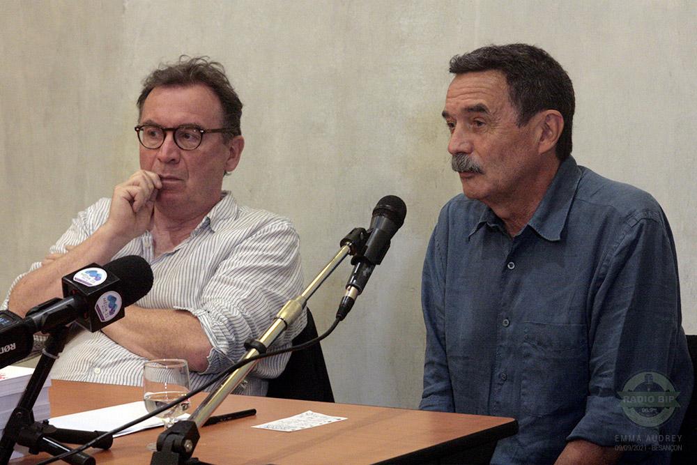 "FabriceRiceputi et EdwyPlenel - 09-09-21 / Conférence ""Ici on noya les Algériens"" à Besançon"