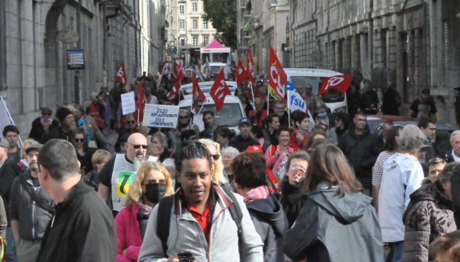 Besançon: les principaux syndicats dans la rue